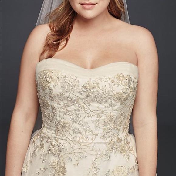 279e7f7489e1 David's Bridal Dresses | Davids Bridal Oleg Cassini Plus Size ...